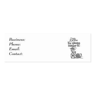 Diseño del bingo tarjetas de visita mini