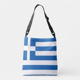 Diseño del bolso de la bandera de Grecia Bolsa Cruzada