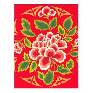 Diseño del bordado del chino tradicional postal