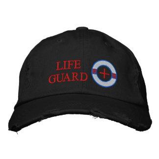 Diseño del bordado del conservante de vida del gua gorra de beisbol bordada