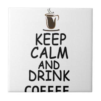 diseño del café azulejo