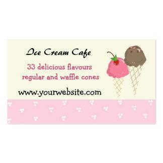Diseño del café del helado tarjetas de visita
