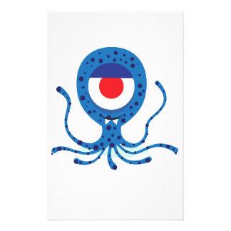 Diseño del calamar del monstruo de la diversión papeleria de diseño