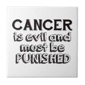 diseño del cáncer azulejo de cerámica