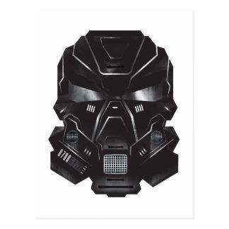 diseño del casco del arte del concepto del friki postal