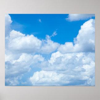 Diseño del cielo de los cielos del fondo de las póster