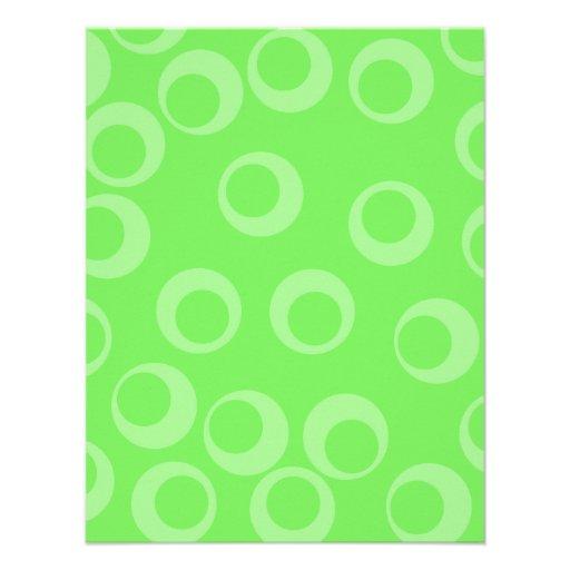 Diseño del círculo en verde. Modelo retro Invitacion Personalizada