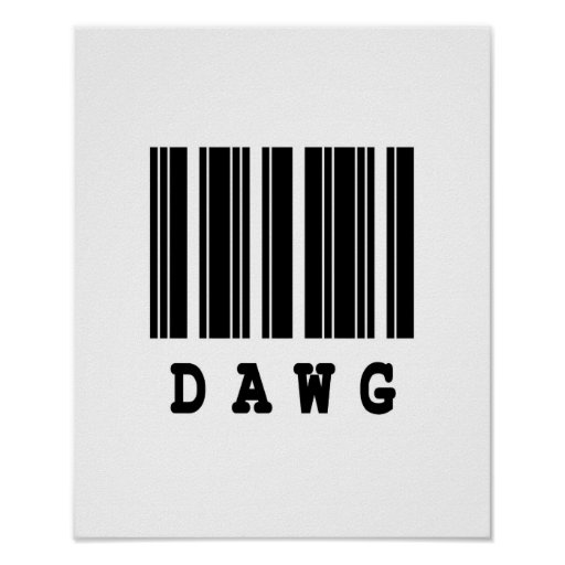 diseño del código de barras del dawg posters