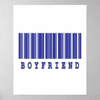diseño del código de barras del novio posters