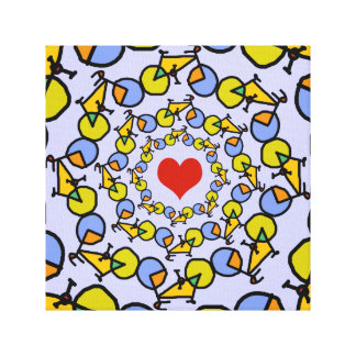Diseño del color de las bicicletas del corazón I Impresiones De Lienzo