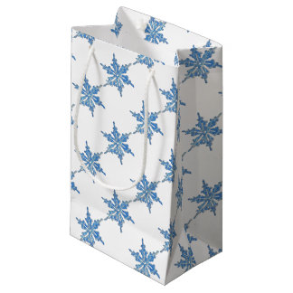 Diseño del copo de nieve del invierno para Navidad Bolsa De Regalo Pequeña
