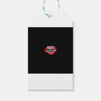 Diseño del corazón de la vela para el estado de etiquetas para regalos