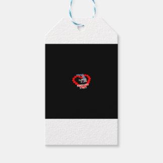 Diseño del corazón de la vela para el estado de la etiquetas para regalos