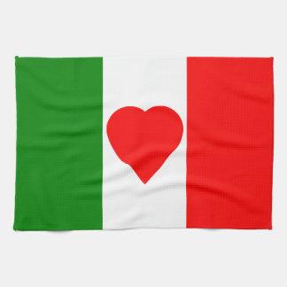 Diseño del corazón de Tricolore de la bandera de Paño De Cocina
