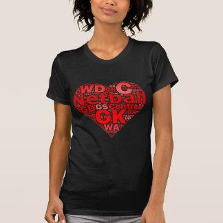 diseño del corazón del amor de las posiciones del camiseta