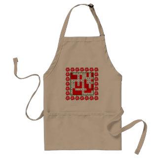 Diseño del crucigrama del amor en español en delantal