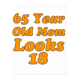 diseño del cumpleaños de 65 años postal