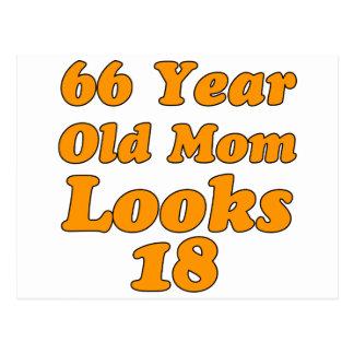 diseño del cumpleaños de 66 años postal