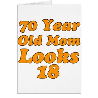 diseño del cumpleaños de 70 años tarjeta de felicitación