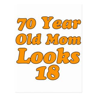 diseño del cumpleaños de 70 años postales