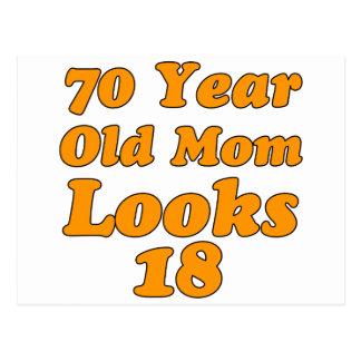 diseño del cumpleaños de 70 años postal
