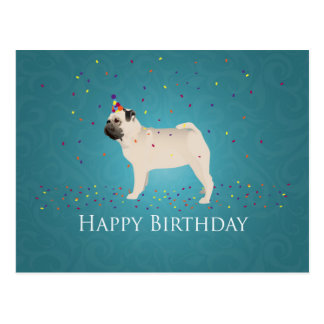 Diseño del cumpleaños del barro amasado postal