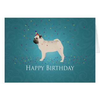 Diseño del cumpleaños del barro amasado tarjeta de felicitación
