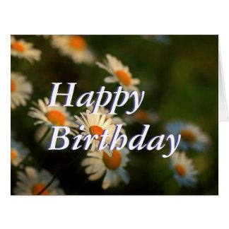 Diseño del día de la margarita - feliz cumpleaños tarjeta de felicitación grande