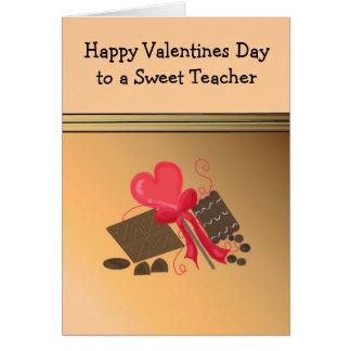 Diseño del día de San Valentín del profesor Tarjeta De Felicitación