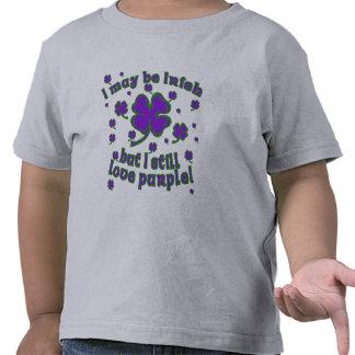 Diseño del día de St Patrick púrpura del trébol Camiseta