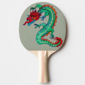Diseño del dragón en la paleta del ping-pong pala de ping pong