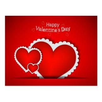 Diseño del el día de San Valentín Postal