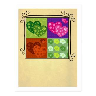 Diseño del el día de San Valentín Postales