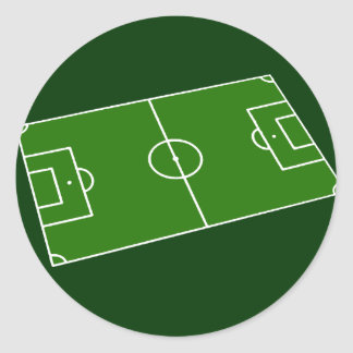 Diseño del estadio de fútbol pegatina redonda