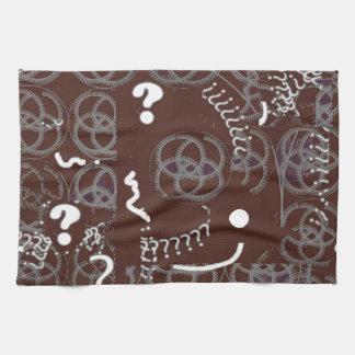 Diseño del extracto de Brown en la toalla de