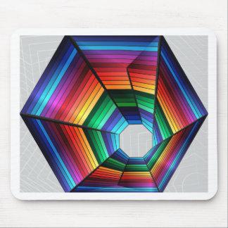 Diseño del extracto del túnel del arco iris alfombrilla de ratón