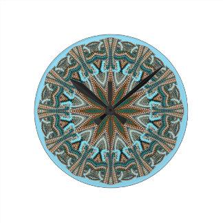 Diseño del Falso-punto del trullo Reloj Redondo Mediano