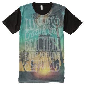 Diseño del fiesta del verano con las camisetas de