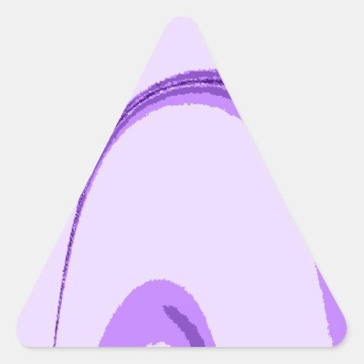 Diseño del Flourish de LP Pegatina Triangulo