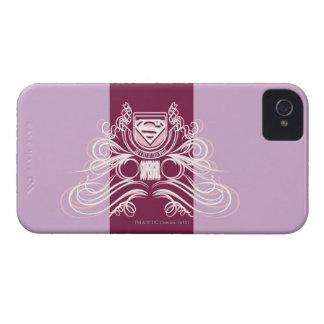 Diseño del Flourish de Supergirl Case-Mate iPhone 4 Protectores