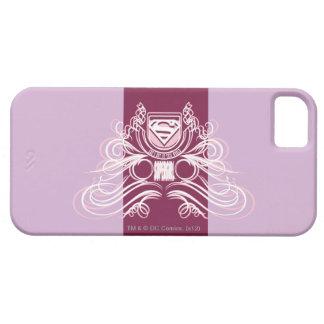 Diseño del Flourish de Supergirl iPhone 5 Case-Mate Protector