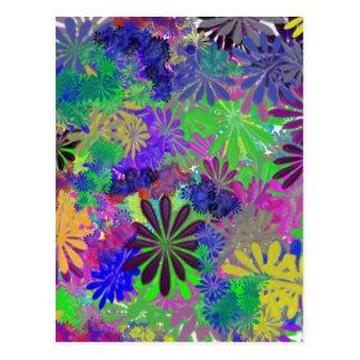 Diseño del flower power del Hippie Postal