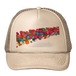Diseño del fondo con los bloques coloridos del gorro