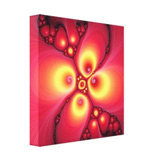 diseño del fractal del fuego de la lava lona estirada galerías