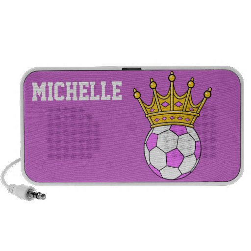 diseño del fútbol de los chicas de la princesa de  portátil altavoz