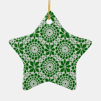 Diseño del ganchillo adorno de cerámica en forma de estrella