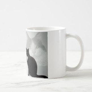 Diseño del gato - poema del amigo taza de café
