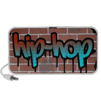 diseño del ghetto de la pared de ladrillo del hip- laptop altavoz