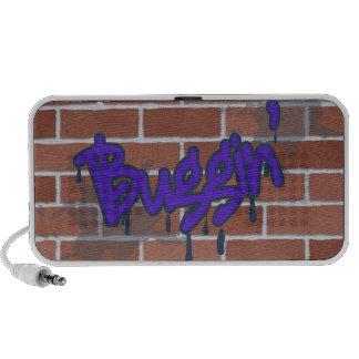 diseño del ghetto de la pintada del buggin iPod altavoz