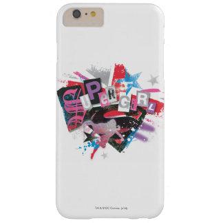 Diseño del Grunge de Supergirl Funda De iPhone 6 Plus Barely There